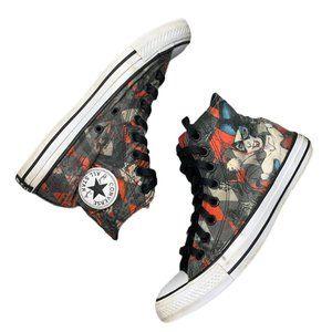 Converse Hi Top Sneakers Harley Quinn Mens 7